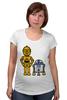 "Футболка для беременных ""Star Wars"" - star wars, звёздные войны, robots, s3po, r2d2, дроид"