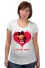 "Футболка для беременных ""LOVE YOU"" - арт, я люблю, love you, обними меня, футболки для пар"
