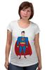 "Футболка для беременных ""Супермен (Superman)"" - супермен, superman, супергерой, dc"