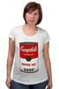 """Футболка для беременных """"Campbell's Soup (Энди Уорхол)"""" - поп арт, энди уорхол, pop art, andy warhol, campbell's soup"""