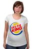 """Футболка для беременных """"Король Селфи (Selfie King)"""" - пародия, foto, селфи, selfie, burger king"""