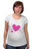"""Футболка для беременных """"""""LOVE"""""""" - праздник, сердце, любовь, розовое, девушке, девочке, сердечки"""