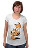 """Футболка для беременных """"Две Лисички (fox)"""" - fox, лиса, лисенок, лисичка"""