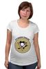 """Футболка для беременных """"Питтсбург Пингвинз """" - хоккей, nhl, нхл, питтсбург пингвинз, pittsburgh penguins"""