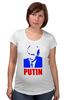 Футболка для беременных "Putin" - россия, russia, путин, президент, putin