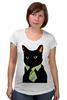 """Футболка для беременных """"Деловой кот"""" - кот, мем, cat, mem, black cat, деловой кот, business cat, suit n tie"""