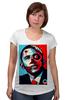 """Футболка для беременных """"Обама"""" - usa, обама, сша, президент, власть, obama"""