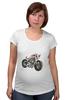 """Футболка для беременных """"Мотоцикл"""" - мотоцикл, bike"""