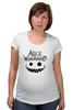"""Футболка для беременных """"Alice in Wonderland"""" - кот, cat, фэнтази, алиса в стране чудес, alice in wonderland"""