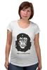 "Футболка для беременных ""Viva La Evolution"" - обезьяна, че гевара, куба, эволюция, che guevara"