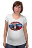 """Футболка для беременных """"Путин/Бить надо первым"""" - россия, russia, путин, президент, putin"""