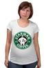 """Футболка для беременных """"Starman Coffee """" - пародия, кофе, starbucks, старбакс, starman"""
