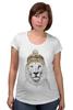 """Футболка для беременных """"Лев в шапке"""" - лев, lion, царь зверей"""