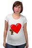"""Футболка для беременных """"bear heart """" - heart, bear, bear heart"""