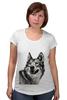 """Футболка для беременных """"Добродушный волк"""" - хищник, animal, волк, wolf"""