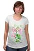 """Футболка для беременных """"Цветы душистый горошек"""" - арт, цветы, весна, акварель, spring, горошек"""