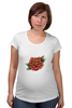 "Футболка для беременных ""Tattoo rose"" - tattoo, роза, татуировка, тату"