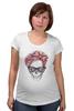 """Футболка для беременных """"Череп Хипстера"""" - skull, череп, девушка, хипстер, hipster"""
