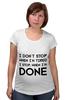 "Футболка для беременных ""I don`t stop"" - фраза, философия, мотивация, цитата, dont stop"