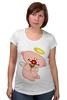 """Футболка для беременных """"Ангел с цветком"""" - любовь, крылья, цветок, ангел, нимб"""