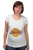 "Футболка для беременных ""Lakers"" - баскетбол, нба, лейкерс, lakers, los angeles lakers"