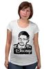 "Футболка для беременных ""Edward Snowden"" - америка, россия, цру, edward snowden, эдвард сноуден"