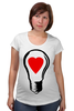 "Футболка для беременных ""BIG LAMP! SWITCH ON YOUR LOVE!"" - сердце, любовь, lamp, zogs, switch on your love"