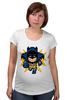 """Футболка для беременных """"Бэтмен (8-бит)"""" - batman, 8-бит, бэтмен, пиксели"""