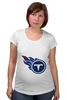 "Футболка для беременных ""Теннесси Тайтанс"" - огонь, логотип, nfl, американский футбол, american football, нфл, теннесси тайтанс, titans"