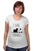"""Футболка для беременных """"Я ненавижу утро"""" - панда, panda, я ненавижу утро, i hate mornings"""