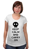 "Футболка для беременных ""Keep Calm And Carry On"" - zombie, keep, calm, carry"