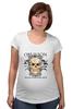 """Футболка для беременных """"Oblivion"""" - череп, ангел, цитата, oblivion, забвение"""