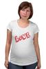 """Футболка для беременных """"Love"""" - любовь, надписи, слова"""