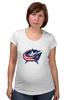"Футболка для беременных ""Columbus Blue Jackets / NHL USA"" - usa, nhl, columbus blue jackets, kinoart"