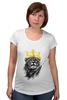 """Футболка для беременных """"Король Лев"""" - животные, корона, лев, царь зверей"""