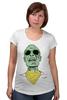 "Футболка для беременных ""Психоделика"" - zombie, зомби, green, shades"