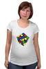 "Футболка для беременных ""Кубик рубика "" - арт, игра, ретро, rubik's cube"