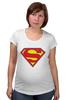 "Футболка для беременных ""Супермен"" - супермен, superman, логотип"