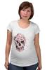 """Футболка для беременных """"Цветочный Череп"""" - skull, для девушек, цветы, черепа"""