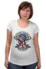 "Футболка для беременных ""Skull Art"" - skull, череп, usa, американский флаг, american flag"