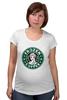 "Футболка для беременных ""Frozen Coffee"" - starbucks, старбакс, frozen, frozen coffee, замерзшее кофе"