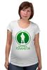 """Футболка для беременных """"Вежливая планета"""" - армия, россия, логотип, вежливые люди, ратник"""