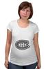 "Футболка для беременных ""Montreal Canadiens"" - хоккей, nhl, нхл, montreal canadiens, монреаль канадиенс"
