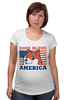 "Футболка для беременных ""Doge Bless America"" - мем, doge, собакен"