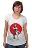 "Футболка для беременных ""Red sun series"" - самурай, япония, japan, red sun"