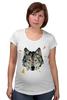 """Футболка для беременных """"Волк (Wolf)"""" - pixel, волк, wolf, полигоны, polygon"""