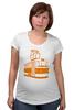 "Футболка для беременных ""Трамвай "" - прикол, арт, orange, city, tram"