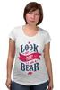 "Футболка для беременных ""Я Медведь (I am Bear)"" - bear, россия, russia, я медведь, i am a bear"