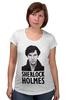 """Футболка для беременных """"Sherlock Holmes"""" - london, шерлок, холмс, ватсон, cumberbatch"""