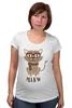 """Футболка для беременных """"Умный Кот"""" - кот, очки, cat, meow"""
